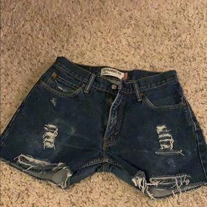 Distressed Levi's 505 Jean Shorts Sz 30